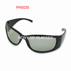 China Vidros 3D polarizados lineares do preto do cinema de Imax com lentes de 0.72mm fornecedor